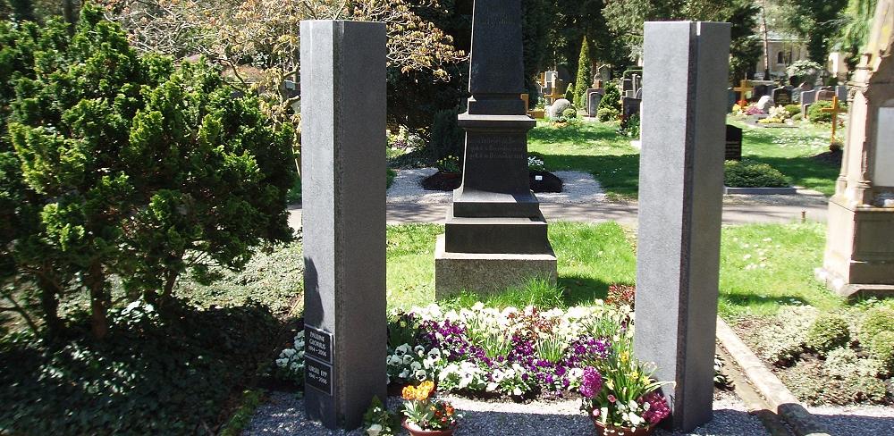 Urnengemeinschaftsgrab auf dem Friedhof Römerschanze