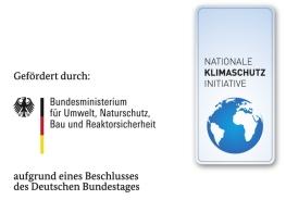 Logo Nationale Klimaschutz Initiative gefördert durch das Bundesministerium für Umwelt, Naturschutz, Bau und Reaktorsicherheit