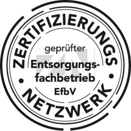 Logo geprüfter Entsorgungsfachbetrieb EfbV