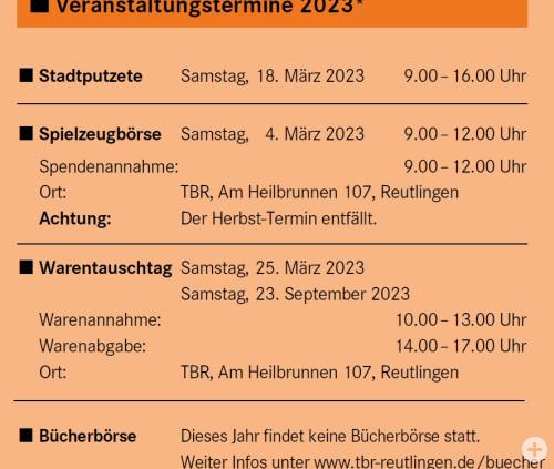 Veranstaltungen der TBR