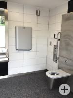 barrierefreie Toilette im Bürgerpark Innenansicht