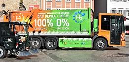 Zu sehen ist das Brennstoffzellen-Müllsammelfahrzeug der TBR